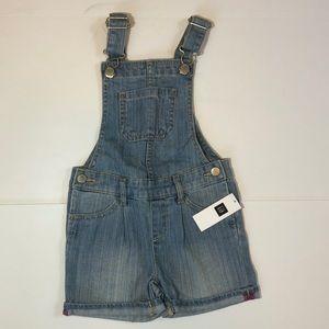 BNWT Gap Kids short denim overalls size 3